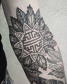 Kresby - Tvorba motívu tetovania na mieru,podľa príbehu-mandala - 10119741_