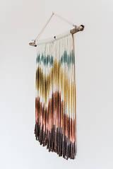 """Dekorácie - Nástenná dekorácia z dreva a vlny """"Horské masívy"""" - 10120292_"""