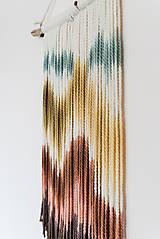 """Dekorácie - Nástenná dekorácia z dreva a vlny """"Horské masívy"""" - 10120293_"""