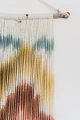 """Dekorácie - Nástenná dekorácia z dreva a vlny """"Horské masívy"""" - 10120310_"""