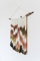 """Dekorácie - Nástenná dekorácia z dreva a vlny """"Karpatská žiara"""" - 10121039_"""