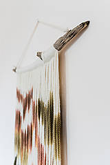 """Dekorácie - Nástenná dekorácia z dreva a vlny """"Karpatská žiara"""" - 10121042_"""