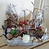 Dekorácie - Aranžmán Vianoce- čarovný les - 10120358_