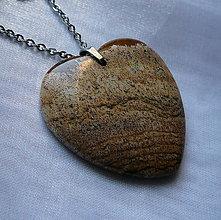 Náhrdelníky - Jaspisové srdce - 10122112_