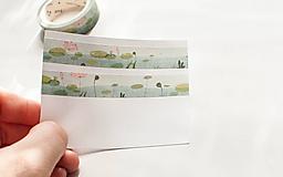 """Papier - WASHI / papierová páska na tvorenie """"lekná"""" - 10122990_"""