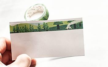 """Papier - WASHI / papierová páska na tvorenie """"lesná stanovačka"""" - 10123002_"""