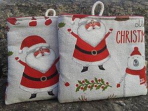 Dekorácie - ZĽAVA !!!malé látkové vianočné vrecko ..na vianočnú poštu - 10119822_
