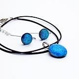 Sady šperkov - Tyrkysová sada sklenených šperkov I.  - 10123972_