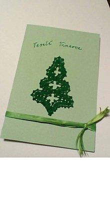 Papiernictvo - vianočná pohľadnica paličkovaná z - 10123609_