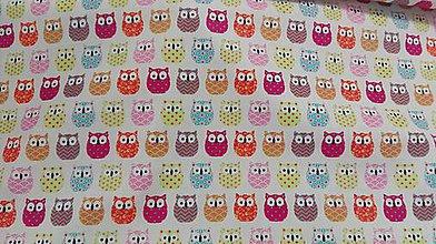 Textil - Bavlna sovičky š.160cm - 10120476_