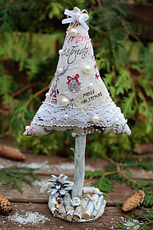 Dekorácie - Vianočný stromček veľký IX. - 10122616_