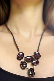 Náhrdelníky - náhrdelník Víno - 10127847_