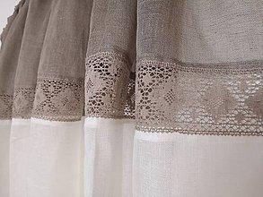 Úžitkový textil - Ľanové záclony - 10127396_