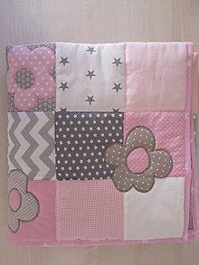 Textil - Pure Bianca - patchwork do postieľky - 10127715_