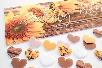 Dekorácie - (026kl) Rodinný kalendár- Žlté slnečnice - 10124926_
