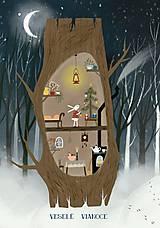 Papiernictvo - Vianočny pozdrav / u zajka - 10126878_