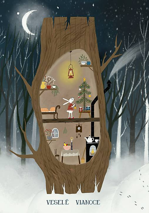 Vianočny pozdrav / u zajka