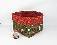 Košíky - Veľký vianočný košík - 10125628_