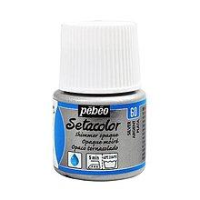 Farby-laky - Farba na textil Pébéo, Setacolor opaque, metalické (60 shimmer silver) - 10124934_