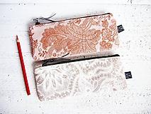 Taštičky - Peračníky režné - natur ornamenty - 10125095_