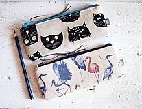 Peračníky režné - plameniaci a mačky