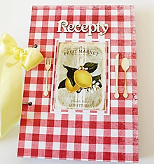 Papiernictvo - Receptár červený s citrónom - 10124609_