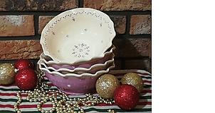 Nádoby - Keramická miska na polievku , slané - levanduľové - 10125223_