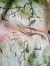 Šály - Šál hodvábny- jesenné zátišie - 10124502_