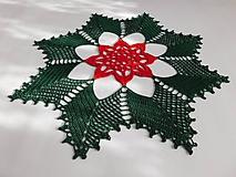 Úžitkový textil - Vianočná háčkovaná dečka - 10127206_