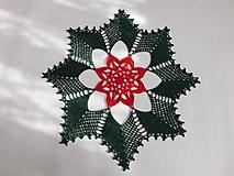 Úžitkový textil - Vianočná háčkovaná dečka - 10127207_