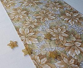 Úžitkový textil - Vianočná hviezda-štóla 110x40cm - 10127869_