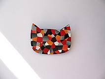 Odznaky/Brošne - ,,Mačka-mozaika,, - 10126420_