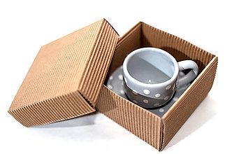 Nádoby - Picollo šáločky v darčekovej krabičke - 10125704_