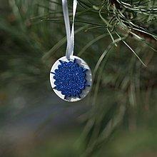 Dekorácie - Snehová vločka Modrá 5 - 10126204_