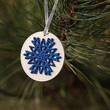 Dekorácie - Snehová vločka Modrá 8 - 10126205_