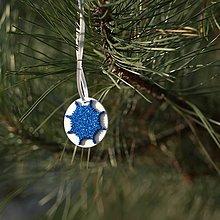 Dekorácie - Snehová vločka Modrá 2 - 10126211_
