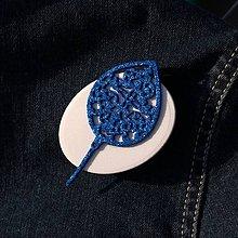 Odznaky/Brošne - Brošňa Vianočná ozdoba Modrá - 10126479_
