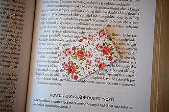 Papiernictvo - Magnetická záložka - kvetinová - 10124673_