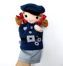 Hračky - Maňuška policajtka - 10127108_