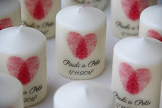 Svietidlá a sviečky - Sviečka - darček pre svadobčanov - 10127510_