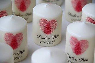 Svietidlá a sviečky - Sviečka - darček pre svadobčanov - 10127524_