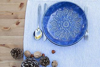 Nádoby - Hlboký tanier - čipkovaná kolekcia - 10125191_