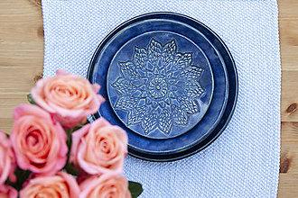 Nádoby - Plytký tanier - čipkovaná kolekcia - 10125270_