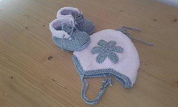 Detské čiapky - Detská čiapka s papučkami - 10127400_