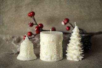 Svietidlá a sviečky - Sada vianočných sviec * s vôňou * (Biela) - 10125741_