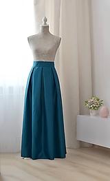 - MAXI skladaná sukňa  (obvod pásu do 85cm) - 10126617_