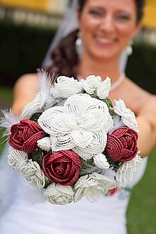 Kytice pre nevestu - Excellent - netradičná svadobná kytica - na objednávku - 10124330_