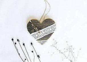 Dekorácie - Srdce na dvere - My a naše maky - 10125785_