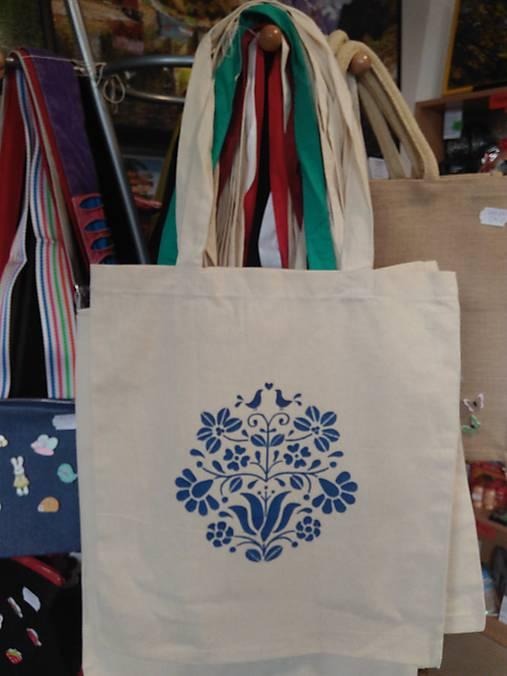 275e57012 Plátená nákupná taška s ľudovým motívom / rifloviny - SAShE.sk ...