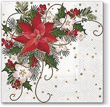 Papier - Vianočná ruža - 10127416_
